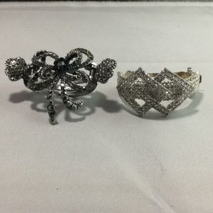 2 Different Ponytail Holders with crystals